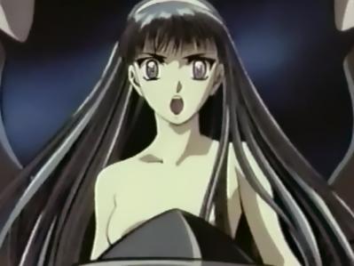 レイアースOVA版希望の翼 龍咲海の胸裸ヌード