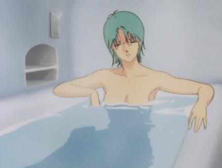 ZガンダムTV版 フォウの胸裸入浴シーン1
