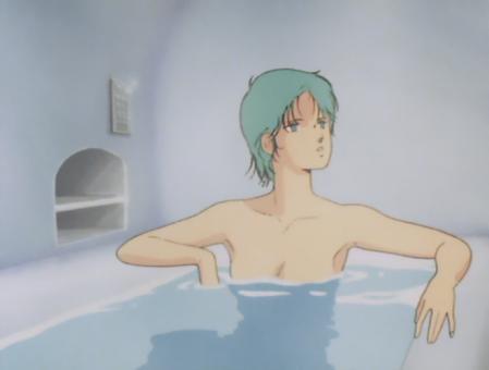 ZガンダムTV版 フォウの胸裸入浴シーン2