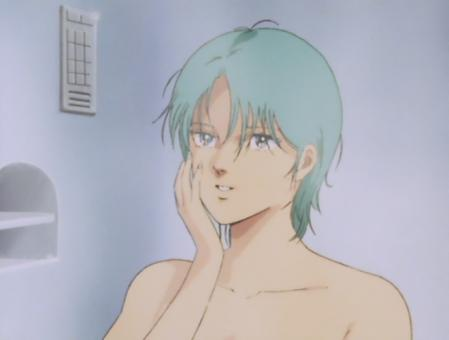 ZガンダムTV版 フォウの胸裸入浴シーン3
