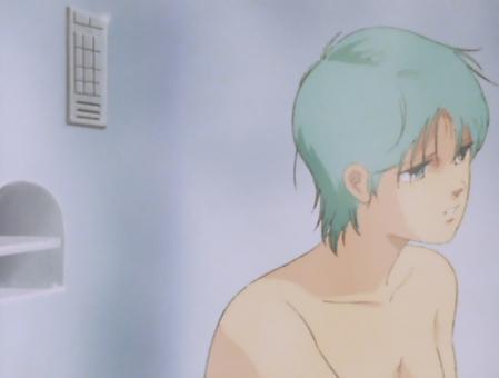 ZガンダムTV版 フォウの胸裸入浴シーン4