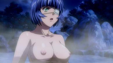 呂蒙 胸裸 温泉入浴シーン
