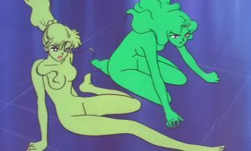 まこと(左)、みちる(右)/SuperS の変身解除 全裸