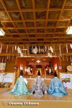 鹿部稲荷神社宵宮祭 2012 松前神楽 神楽初