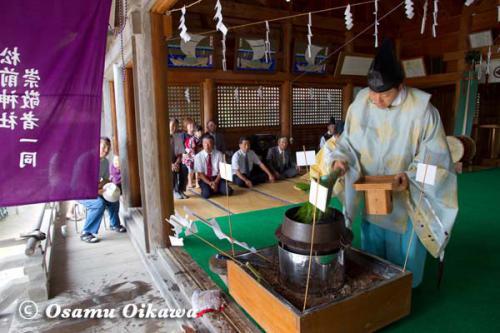 松前町 松前神社 鎮釜湯立式 2012