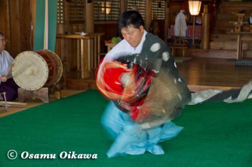 松前町 松前神社 松前神楽 十二の手獅子舞五方 2012