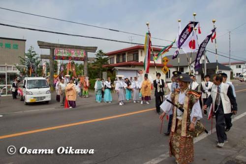 鹿部稲荷神社渡御祭 2012 行列