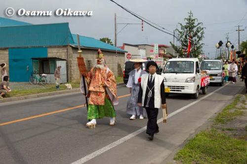 鹿部稲荷神社渡御祭 2012 猿田彦