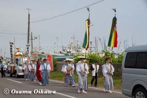 鹿部稲荷神社渡御祭 2012 神社行列