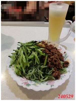 240529茶そばdeジャージャー麺