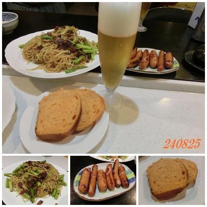 240825yukoさんパンと晩御飯