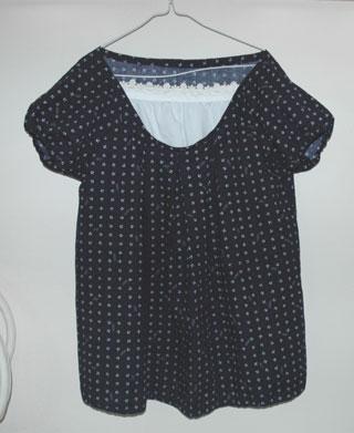 リップル生地の授乳服