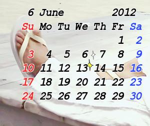 6月3日 カレンダー