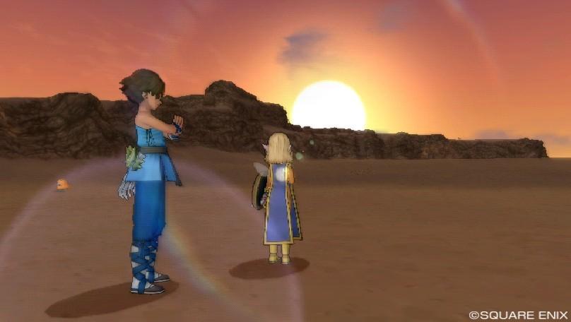 ゴブル砂漠の夕日