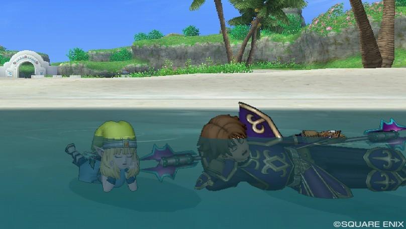溺れる…!!