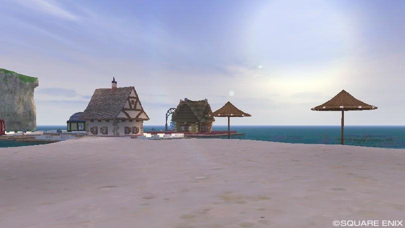 朝のうるわしの浜辺地区