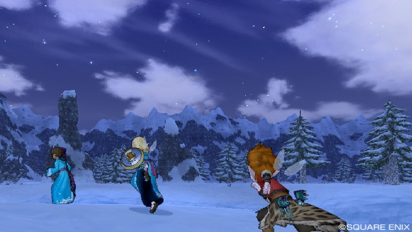 ラギ雪原の星空