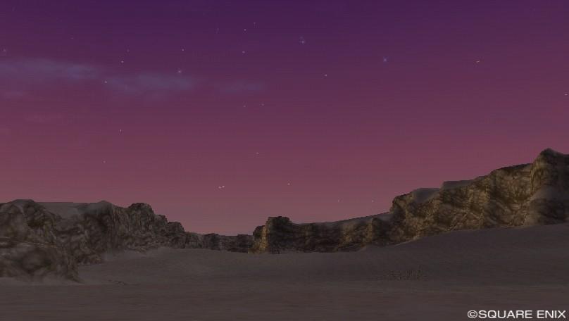 紫の空(ゴブル砂漠東)