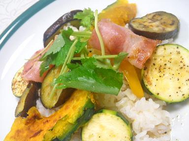 夏野菜のオリーブ焼き