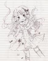 ペン書き 女の子