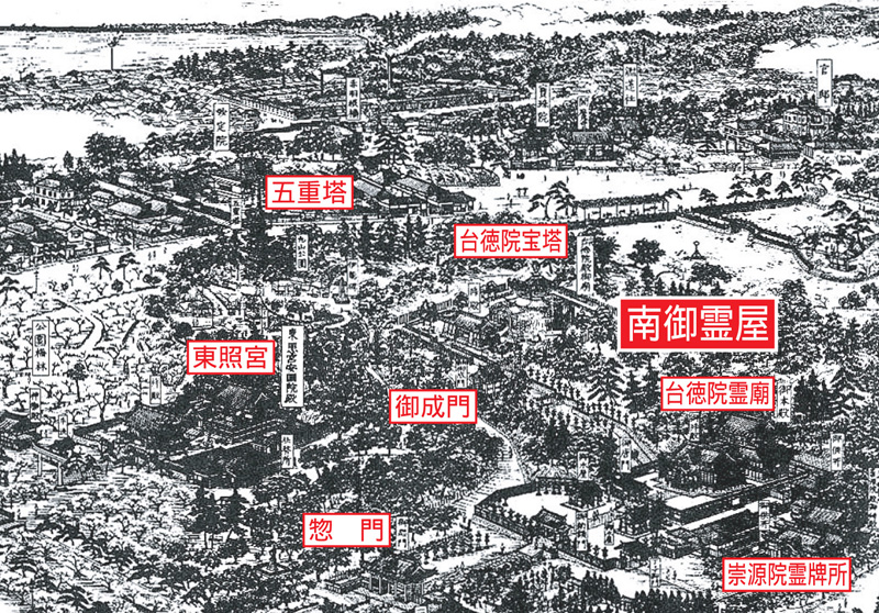 増上寺鳥瞰図03