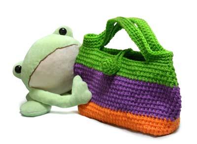 カエルとバッグインバッグ