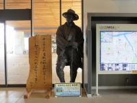 2012.4.17 JR日向駅・若山牧水の像