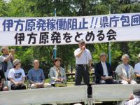 2012.6.10 集会・社民党大分、内田代表