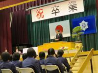 2013.3.15 泉川中学校卒業式1
