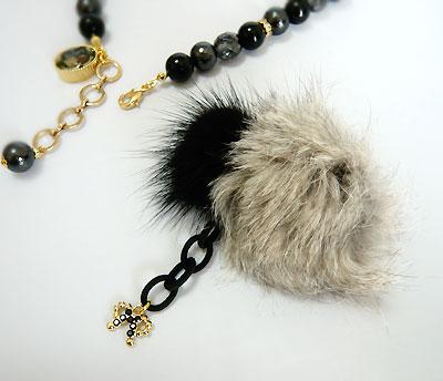 Fur&Crystal-N-gray6