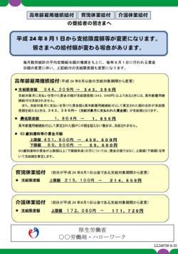 20120727雇用継続給付支給限度額変更