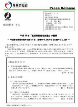 20121130平成24年「就労条件総合調査」