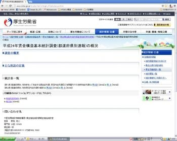 20130121平成24年「賃金構造基本統計調査(都道府県別速報)」