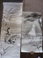 黒い鳥と白い鳥