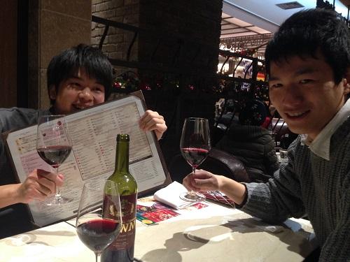 世界のワイン工場にて