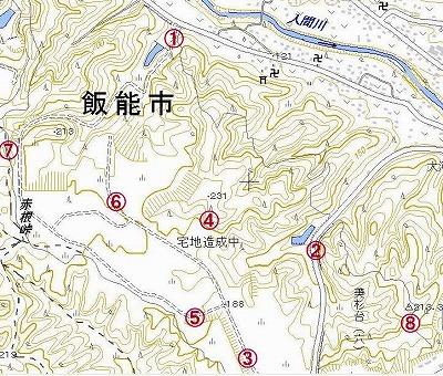12 06 04☆電子地図 赤根ヶ峠 大河原開発地区