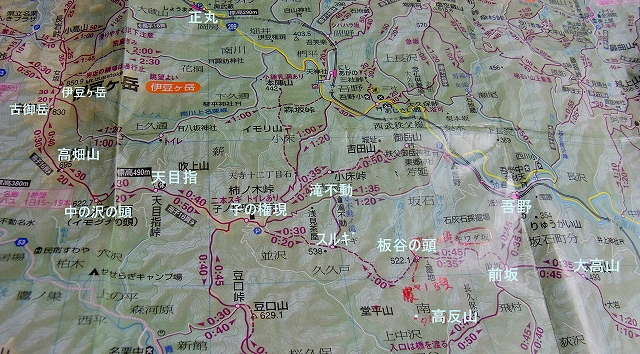 ☆地図 伊豆ヶ岳 大高山R1041275