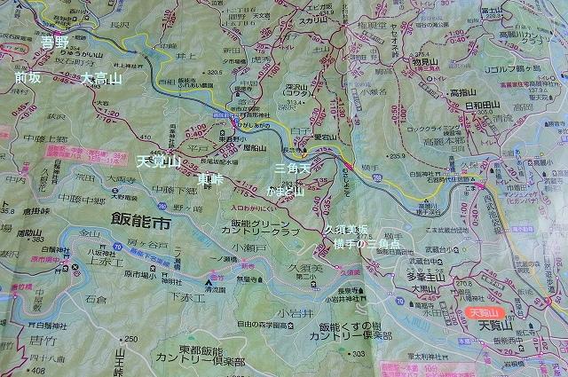 ☆地図 大高山 天覧山R1041276