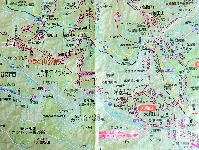☆地図大高山~天覧山0935