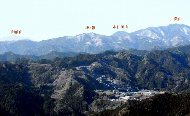 ☆R1041632御前山 棒ノ嶺 本仁田山 川乗山