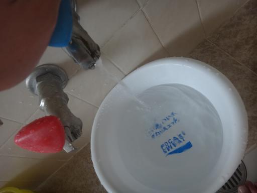 ポカリの洗面器