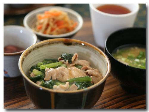 小松菜と豚肉