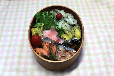 鮭とピーマンの焼き肉風炒め弁当