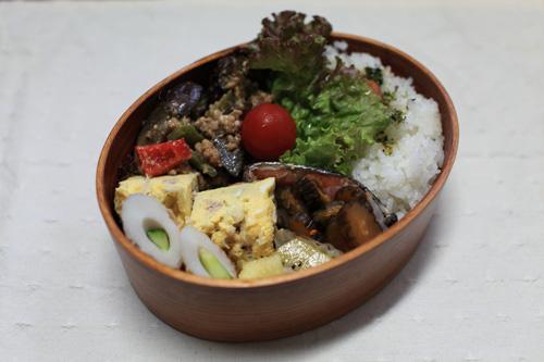 ひき肉とナスの味噌炒め弁当