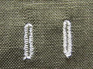 一度縫いと二度縫い