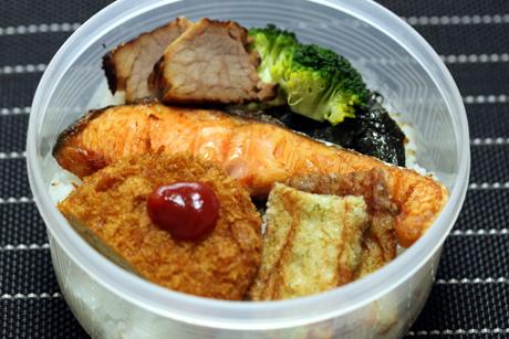 海苔塩鮭弁当