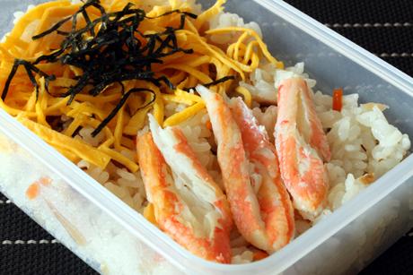 蟹ちらし寿司弁当
