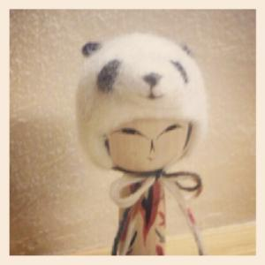 20120703_こけしパンダ帽子