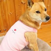 プチハート刺繍フリースベスト(中型犬用)