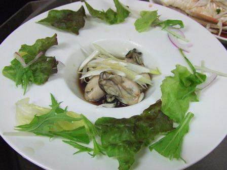 牡蠣の湯引き